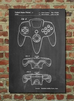 Hey, I found this really awesome Etsy listing at https://www.etsy.com/listing/209410257/nintendo-64-controller-patent-art-print