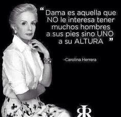 Carolina Herrera quote Spanish