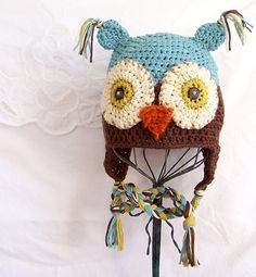 Love the owl hat, to go with her owl themed room.