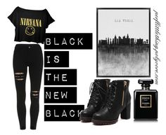 """Black is the new black"" by perflittlething ❤ liked on Polyvore featuring Chanel"