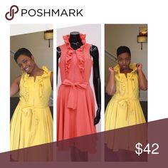 Spring Delight Dress Dress has major stretch  Go down 2 sizes  Small 6-8 8-12 Medium 14-16 Large 16-18 Dresses Mini