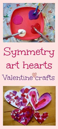 Burton Burton Chance Whalen We should do this together as an art project! Symmetry art valentine craft - beautiful kids art and math lesson in one My Funny Valentine, Valentine Theme, Valentines Art, Valentine Day Love, Valentine Ideas, Valentine Hearts, Printable Valentine, Homemade Valentines, Valentine Wreath