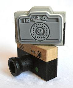 Look at this #zulilyfind! Vintage Camera Wood-Mount Stamp Set #zulilyfinds