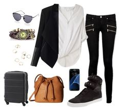 """""""Seul, South Korea"""" by alex99-31 ❤ liked on Polyvore featuring Paige Denim, Helmut Lang, Relaxfeel, Supra, ECCO and Samsung"""