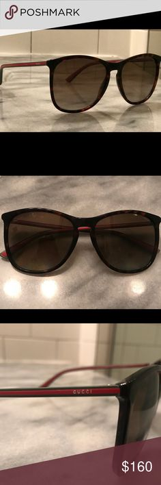 9b51b97ffe Authentic Polarized (as visible in upper right corner of glasses) Tortoise  frame Gucci Accessories Sunglasses