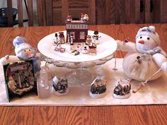 January Centerpiece!  From big snowmen to teensy snowmen!