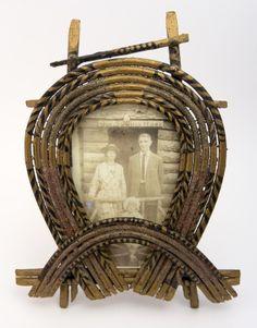 Folk art twig frame