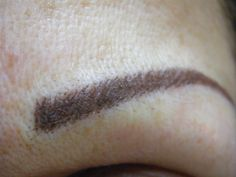 Close up image of Permanent Cosmetic Hair-stroke Method Brows
