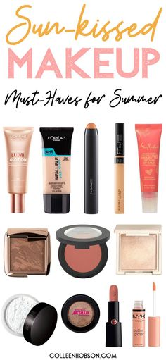 Summer Makeup Must Haves and Tutorial Sun-kissed natural makeup tutorial and must have summer makeup recommendations. Also watch vlog footage of my family on our Hawaiian stay-cation. Sommer Make-up Looks, Sommer Make Up, Dewy Makeup Tutorial, Makeup Tutorial For Beginners, Makeup Products For Beginners, Vacation Makeup, Everyday Makeup Tutorials, Summer Makeup Tutorials, Natural Makeup Looks