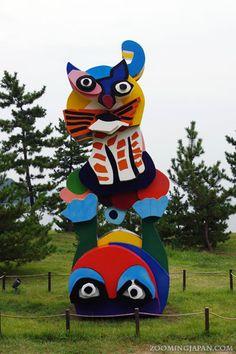"One of the ""art pieces"" on Naoshima. Naoshima is a small ""art island""."