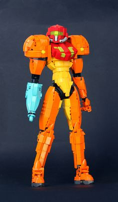 Samus Aran | Had hoarded enough orange so gave a try to Powe… | Flickr