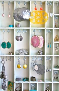 jewelry display vintage white painted by LegalMissSunshine on Etsy, $54.00
