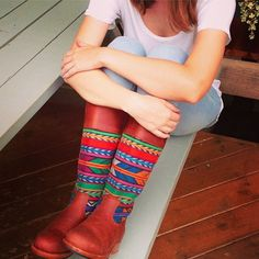 Shared via {Instagram} @teysha_is  Teysha Handmade Atlas Boots!
