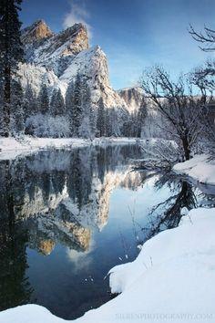 Merced Reflection. California; photo by Steve Sieren