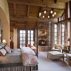 I wish! Dream bedroom cozy looking ....in love with this room