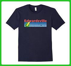 Mens Distressed Retro Corn - Edwardsville IL T-Shirt 2XL Navy - Retro shirts (*Amazon Partner-Link)