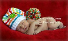 Newborn Crochet Striped Short Tail Elf by StitchinTimeBoutique, $24.50