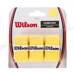 Wilson Pro Over Grip Yellow - HİS KAZANDIRICI PRO OVERGRIP  FEDERER, DEL POTRO, SERENA WILLIAMS gibi dünya yıldızları tarafından kullanılan griptir.  Kod: WRZ4014YE - Price : TL27.00. Buy now at http://www.teleplus.com.tr/index.php/wilson-pro-over-grip-yellow.html