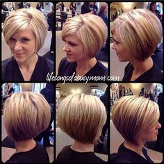 wanna give your hair a new look? Inverted bob hairstyles is a good choice for you. Here you will find some super sexy Inverted bob hairstyles, Find the best one for you, Bob Haircuts For Women, Short Hair Cuts For Women, Short Hair Styles Thin, Red Hair Looks, Inverted Bob Hairstyles, Stacked Haircuts, Asymmetrical Haircuts, 2015 Hairstyles, Celebrity Hairstyles