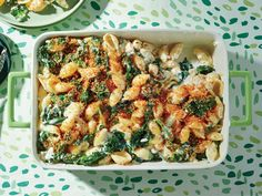 Creamy Kale and Pasta Bake - Freshen Up Your Spring Meals With These Colorful Recipes - Southernliving. Recipe: Creamy Kale and Pasta Bake Pasta Casserole, Pasta Bake, Casserole Recipes, Hamburger Casserole, Chicken Casserole, Baked Pasta Recipes, Cooking Recipes, Vegetarian Recipes, Cooking Games