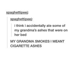 Grandma's ashes