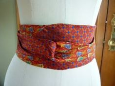 DIY Obi Belt with 2 neckties and some hand stitching
