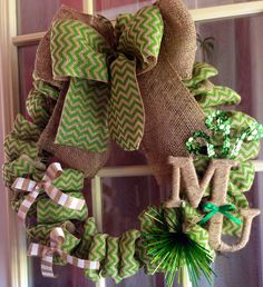 Marshall University burlap wreath on Etsy, $55.00