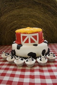 "With a ""Cookies and Cows"" themed party thrown on her farm full of live animals, Macy celebrated her second birthday. Her loving aunt, Hannah, planned the festivities. I especially liked the hand-made signs, cow cupcakes, and stick horses that adorned the table."