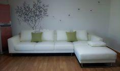 White Leather L-Shape Sofa - Max2917