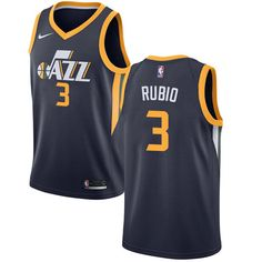 Nike Jazz  3 Ricky Rubio Navy NBA Swingman Icon Edition Jersey 188101559