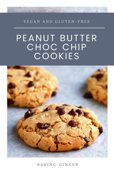 Delicious and healthy Peanut Butter & Choc Chip Oatmeal Cookies that are gluten free, packed with protein and come with a vegan option. Gluten Free Bars, Easy Gluten Free Desserts, Gluten Free Peanut Butter, Healthy Dessert Recipes, Vegan Desserts, Easy Desserts, Baking Recipes, Cookie Recipes, Delicious Desserts