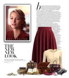 """""""The Age of Adaline"""" by ameve ❤ liked on Polyvore featuring Retrò, Chicwish, Doublju, Wet Seal, Hermès, Vionic, Diamondsy, Chanel, vintage and VintageInspired"""