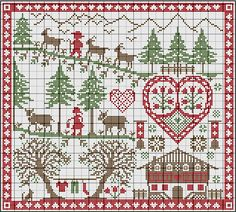She has many FREE counted cross stitch patterns.