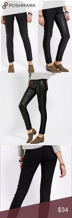 BDG Courtshop Urban Outfitters Black Skinny Pant BDG Courtshop Urban Outfitters  Black Skinny Pant  Vegan Leather Front  Size 31  NWOT  Unwashed/Unworn  Cotton/Lycra\Polyurethane Urban Outfitters Jeans Skinny
