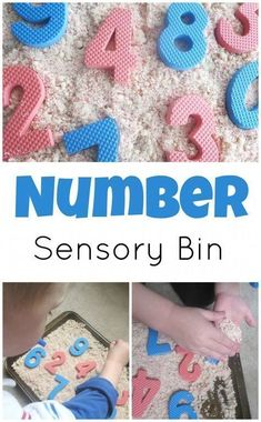 Sensory bins are lots of fun! Why not also make them educational? My Mundane and Miraculous Life has a simple sensory bin idea to help your kids identify and remember numbers! Sensory Table, Sensory Bins, Sensory Activities, Sensory Play, Educational Activities, Preschool Activities, Nursery Activities, Sensory Boards, Facebook Support