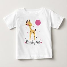 Shop for the best First Birthday baby t-shirts right here on Zazzle. Upgrade your child's wardrobe with our stylish baby shirts. 1st Birthday Shirts, Girl First Birthday, Giraffe Birthday, Gender Neutral Baby Clothes, Stylish Baby, Baby Shirts, Basic Colors, First Birthdays, Girl Outfits