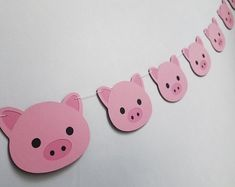 Prepare to be delighted, this Pig garland is the perfect addition to your party or home decor! Handmade by Forever Oh So Crafty and on sale now! Birthday Party Decorations, Birthday Parties, Pig Decorations, Pig Baby Shower, Pink Day, Pig Birthday, Baby Pigs, Pig Party, Pink Cards