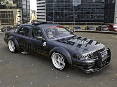 "Ford Crown Victoria ""Hoonicop"" Looks Ready for Officer Ken Block - autoevolution Victoria Police, Victoria S, Panther Car, Mercury Marauder, Toyota Vios, Ken Block, Before Us, Police Cars, Chevy Pickups"