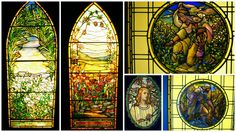 Tiffany windows in the Driehous Gallery, Navy Pier Chicago