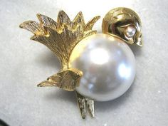 Lovely Napier Bird Pin Brooch with by TreasureBoxAntiqueUS on Etsy