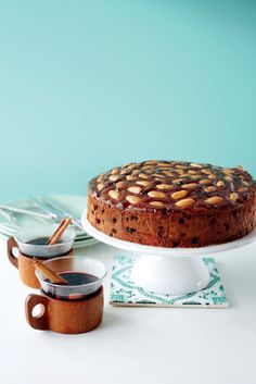 This recipe is ideal for people who prefer a lighter Christmas or fruit cake. It's quicker too.