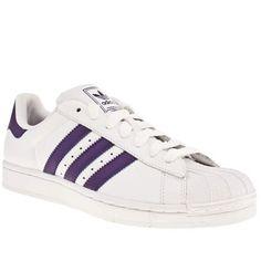 new style fd5ca 62025 White  Purple Adidas Adidas Superstar