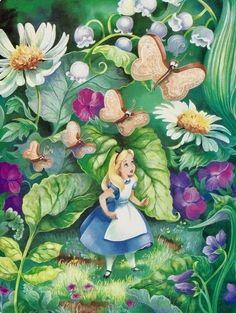 26 ideas garden drawing alice in wonderland Alice In Wonderland Flowers, Alice In Wonderland 1951, Adventures In Wonderland, Wonderland Party, Alice In Wonderland Illustrations, Lilo Et Stitch, Chesire Cat, Pinturas Disney, Alice Madness