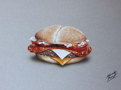 Drawing - Burger by marcellobarenghi.deviantart.com on @deviantART