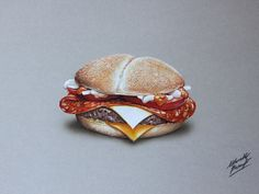Drawing - Burger by marcellobarenghi.deviantart.com on @deviantART