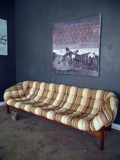 "retro sofa, otherwise known as ""sexy-ugly couch!"""