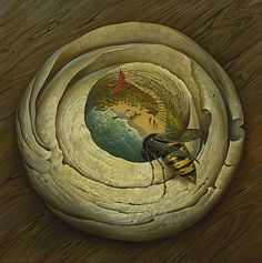 One Flew Over The Wasp's Nest by Vladimir Kush