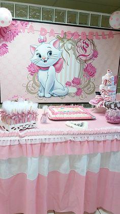 Girl Dinosaur Birthday, Mickey Birthday, Cat Birthday, Kitten Party, Cat Party, Aristocats Party, Paris Baby Shower, Marie Cat, Second Birthday Ideas
