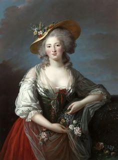 Элизабет-Луиза Виже-Лебрен -- Елизавета Французская. Версальский дворец.
