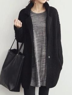 Chic Cable Knit Open-Front Cardigan - OASAP.com | Long cardigan
